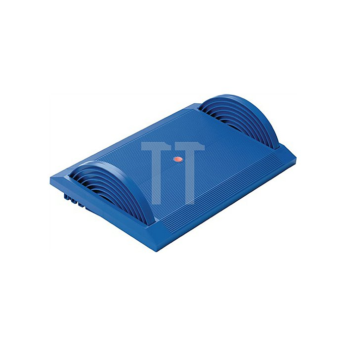 Fußstütze blau Kunststoff H120xB540xT350mm höhenverstellbar