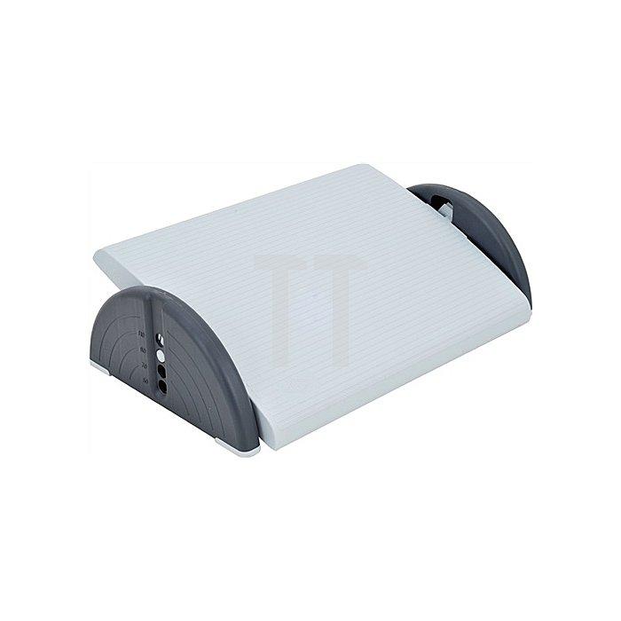 Fußstütze Relax grau 450x350mm Aussparung f.Fußschalter 4-fach höhenverstellb.