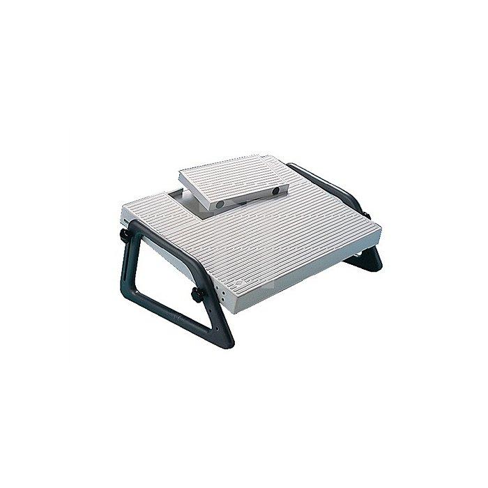Fußstütze Relax grau 450x350mm Aussparung f.Fußschalter höhenverstellb.