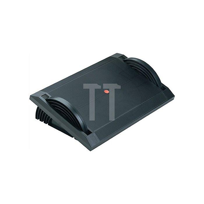 Fußstütze schwarz Kunststoff H120xB540xT350mm höhenverstellbar