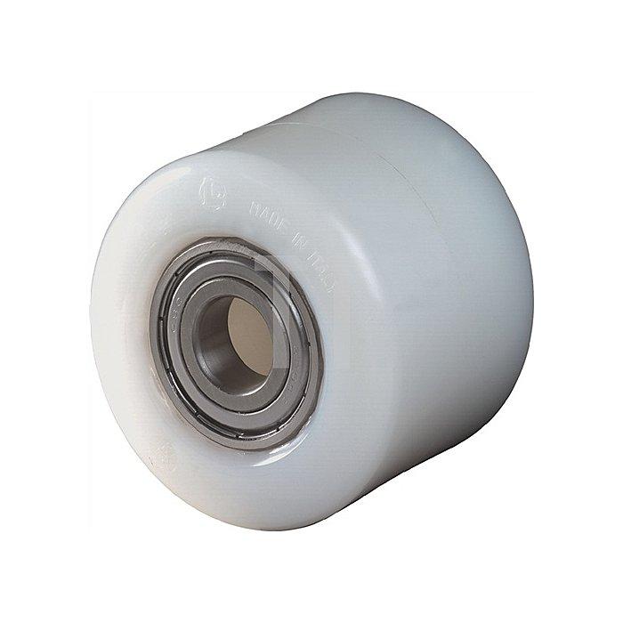Gabelrolle Polyamid Einbau-L.56mm Rad-B.60mm D.82mm Achs-D.20mm Trgf.600kg