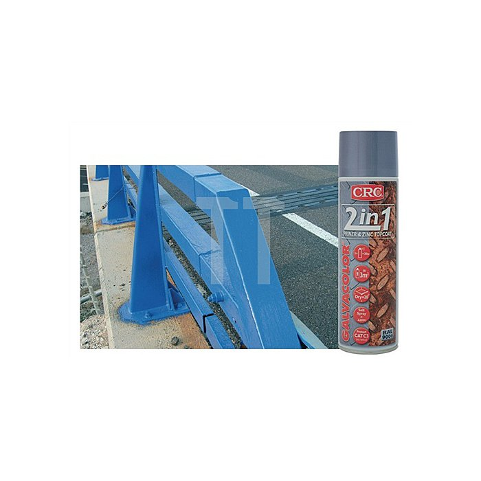 Galvacolor 5012 Blau Rostschutzfarbe 2-in-1 500 ml CRC