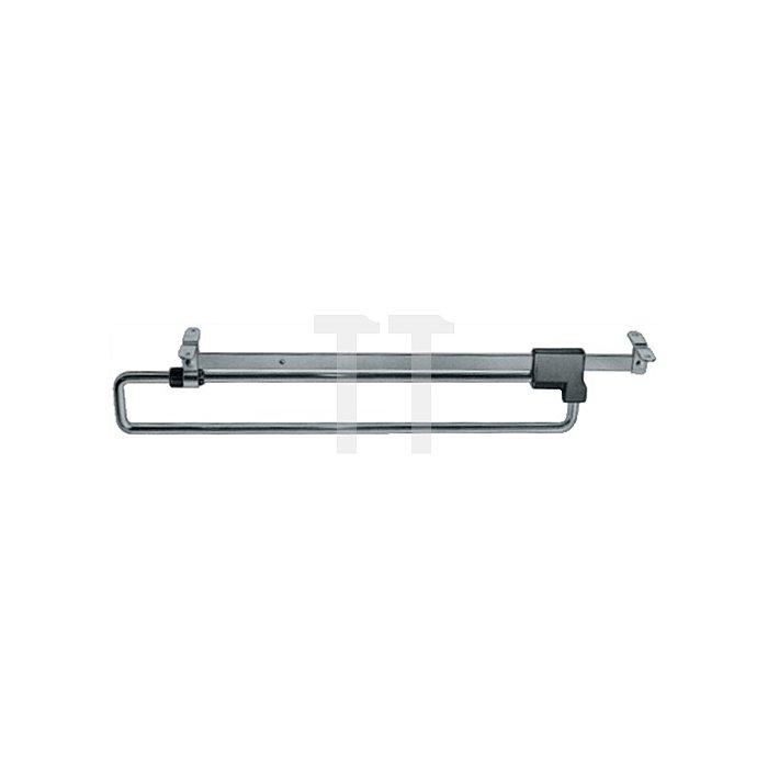 Garderobenhalter Länge 30cm Stahl vernickelt ausziehbar