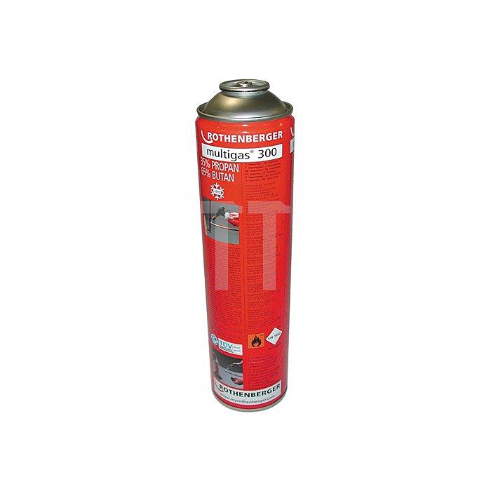 Gaskartusche 600 ml Multigas 300 f. Lötger. ROFIRE 1800°C u. ROFIRE PIEZO1950°C