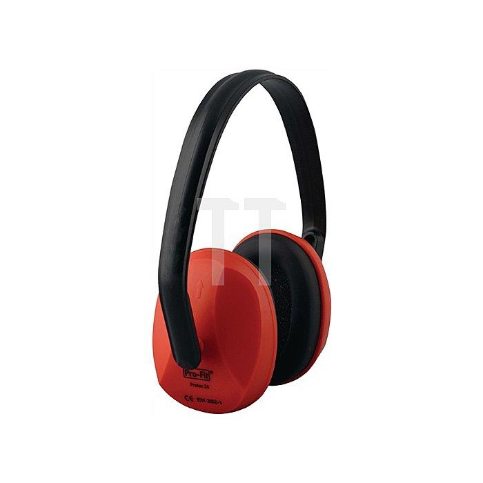 Gehörschutz Protec Kapseln rot EN352-1 SNR24dB mittl.Dämmwert