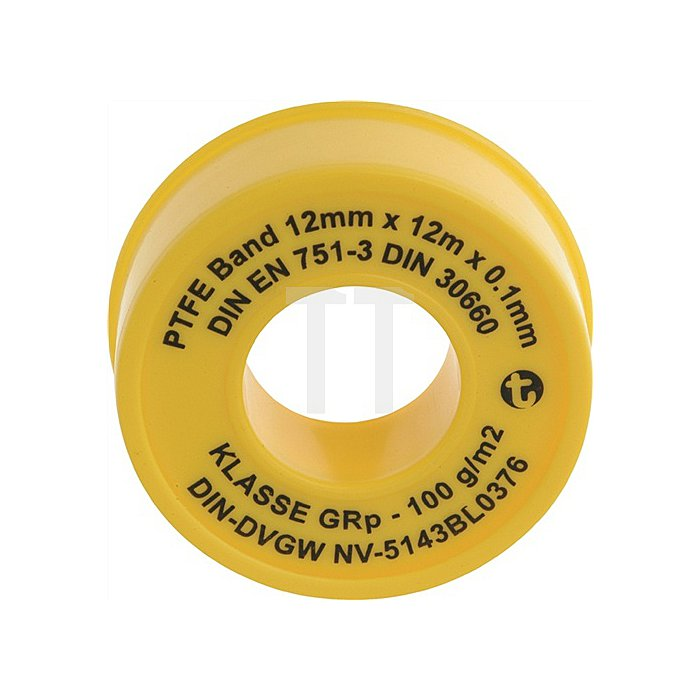 Geka PTFE-Band 12m x 12mm x 0,1mm