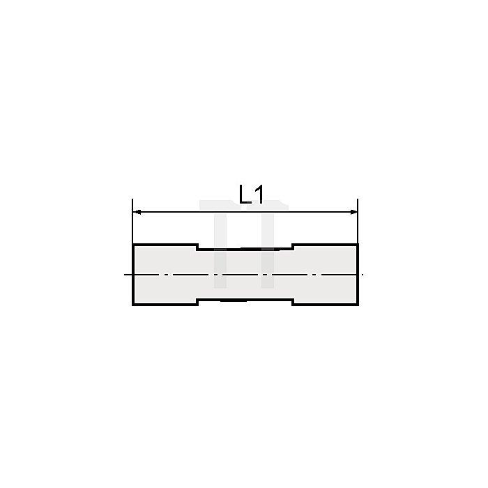 Gerade Verbinder für Schlauch- Außen-Ø mm 8 L1 mm 38,5 mm
