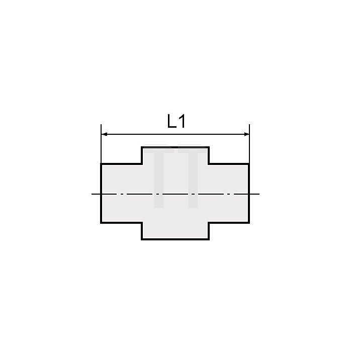 Gerader Einschraubsteckverbinder AG zylindrisch mit O-Ring Gewinde G 1/4