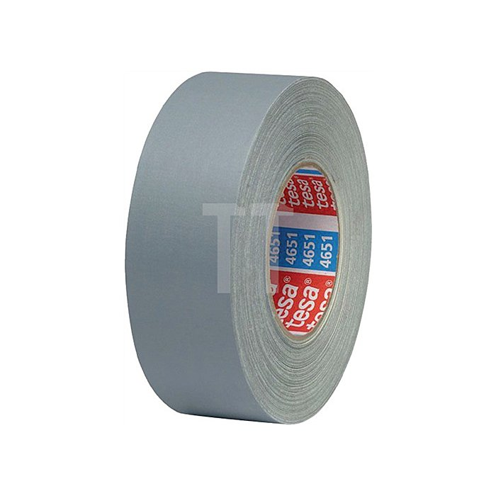 Gewebeklebeband 4651 Länge 50m Breite 38mm grau Zellwollgewebe tesa