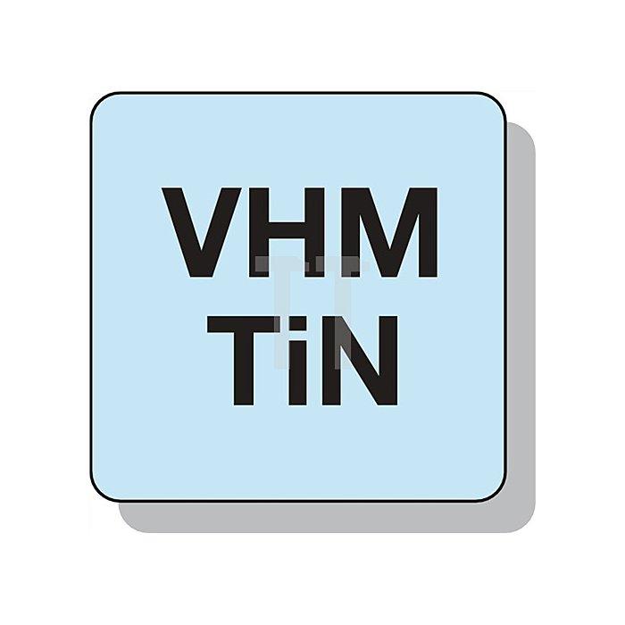 Gewindeausbohrwerkzeug M4 VHM TiN 3 Schneiden