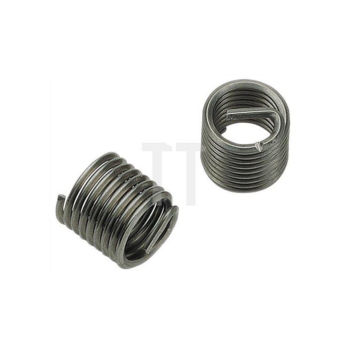 Gewindeeinsatz DIN8140 Typ Standard f.M6 rostfreier Stahl 2xD