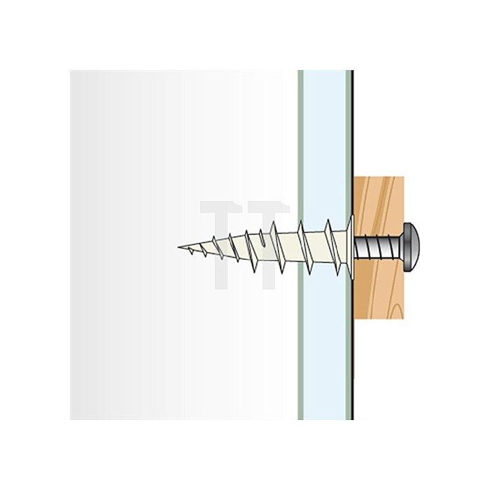 Gipskartondübel Zinkdruckguss m. SchraubeGKDZ PZ 4,5x40