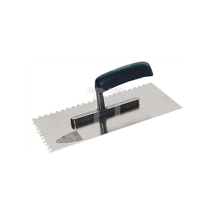 Glättekelle gezahnt Zahnung 8x8 280x130x0,7mm Stahlblatt