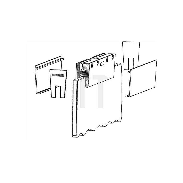 Glasklemmplatte für Perlan 140/Rollan 40N/81 m.Einzelblenden stirnseitig Alu EV