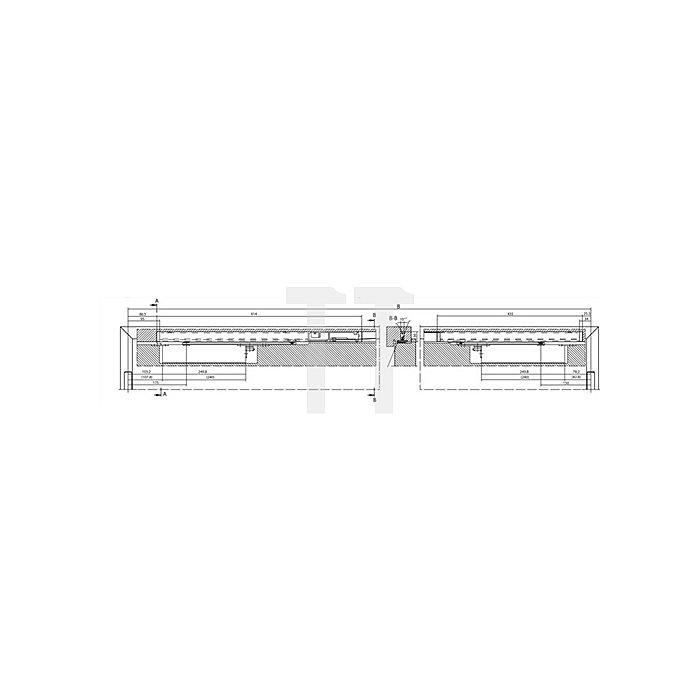 Gleitschiene Boxer E-ISM für 2-flügelige Türanlangen silber