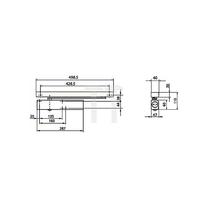 Gleitschiene E weiss RAL 9016 passend für TS 5000