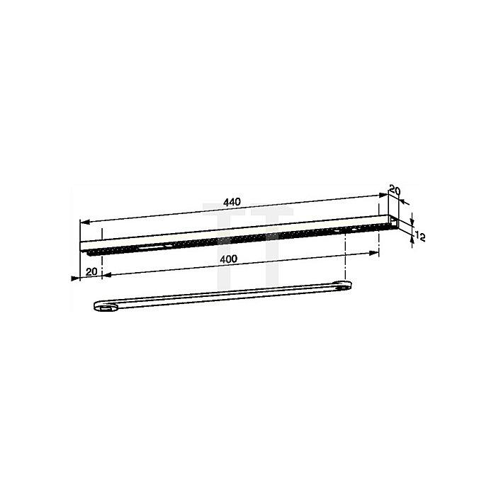 Gleitschiene G 96 N 20 Abm. 20x12mm DIN links passend für ITS 96 mit Türhebel