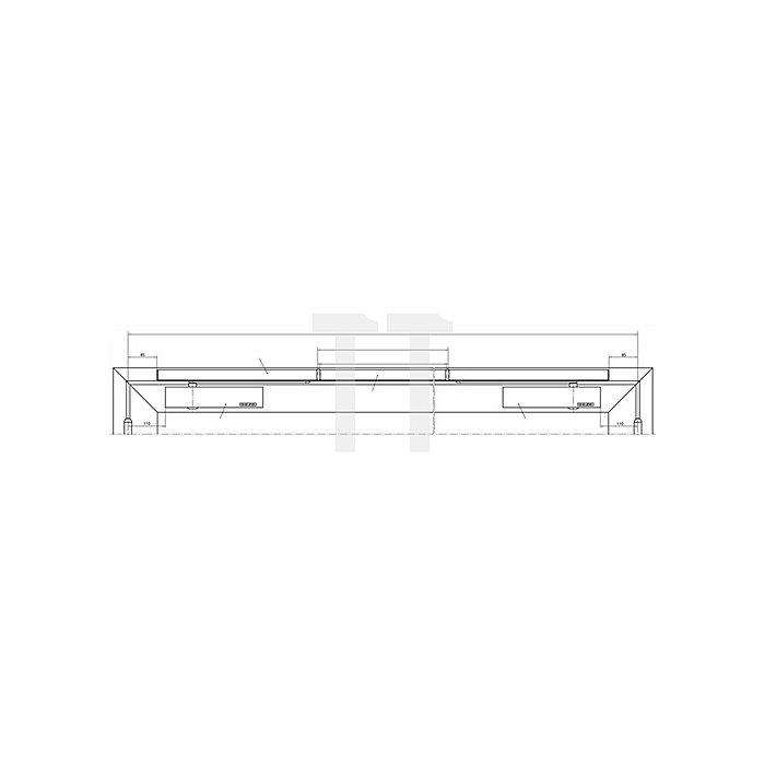 Gleitschiene ISM silber passend für TS 5000 ISM