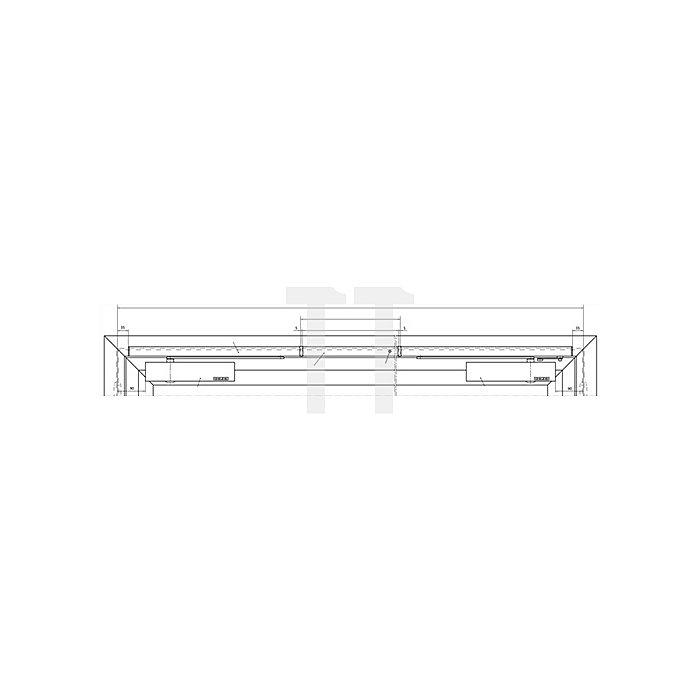 Gleitschiene R-ISM BG silber passend für TS 5000 L-R-ISM