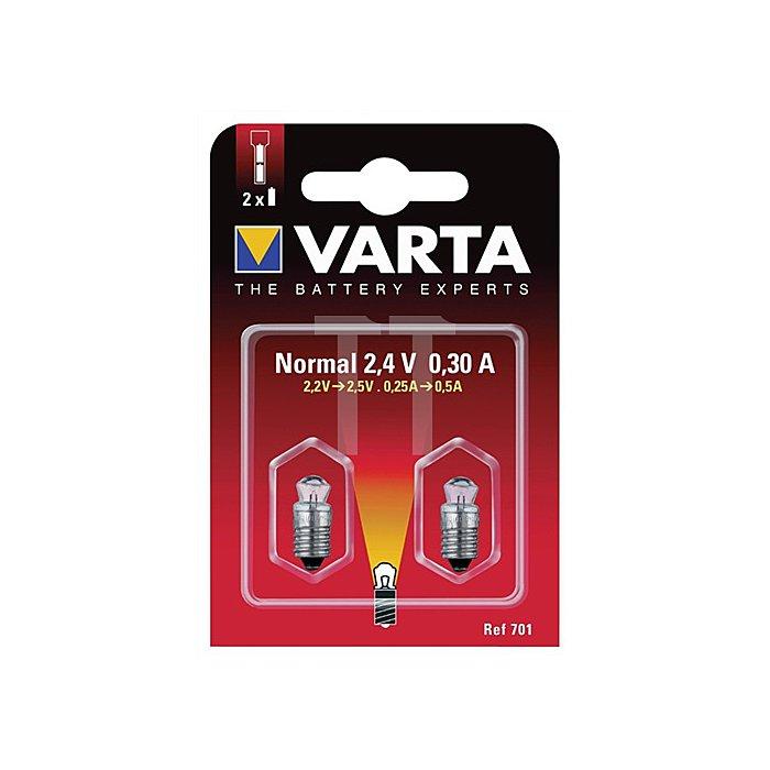 Glühlampe 4,8V 0,75A 792 Krypton m.Stecksockel VARTA 2St./Blister