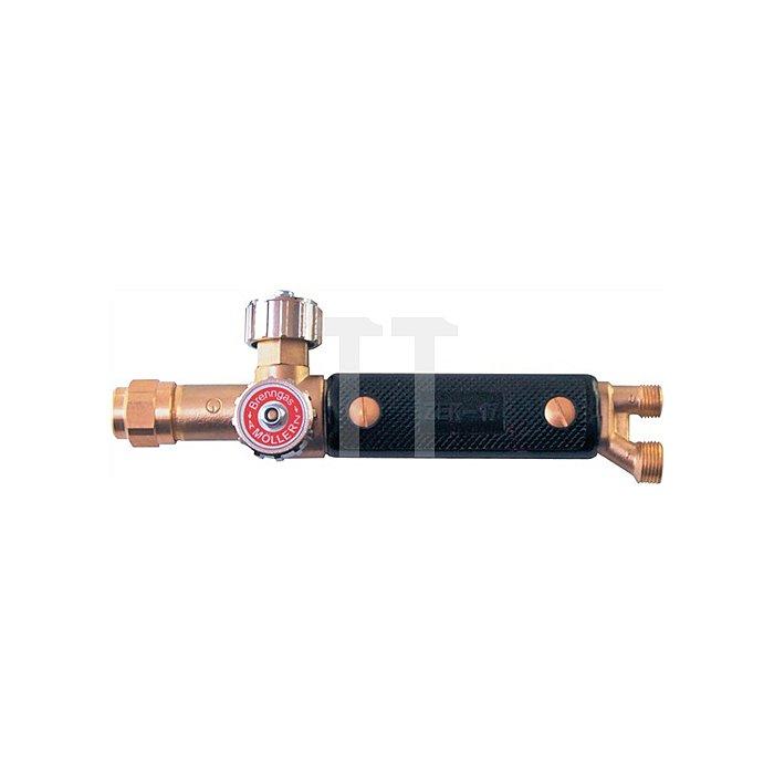 Griffstück Kombi 17 Anschl. G1/4 - G3/8 LH W21,5x20mm 17mm Messing Schaft