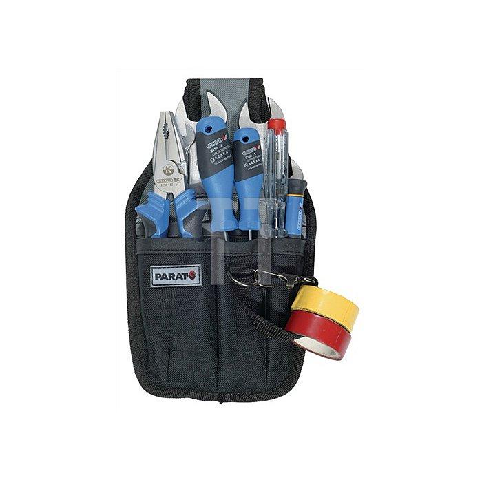 Gürteltasche Nylon 150x30x260mm grau-schwarz PARAT 5 Fächer