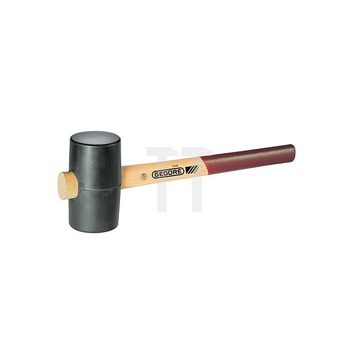 Gummihammer 540g Kopf-L.115mm D.65mm DIN5128-90 90Shore A