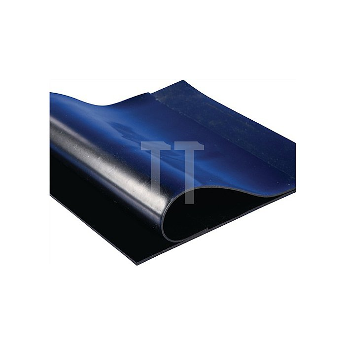 Gummiplatte glatt 10mm m.Gewebe L.10000xB.1200mm schwarz 10m/RL