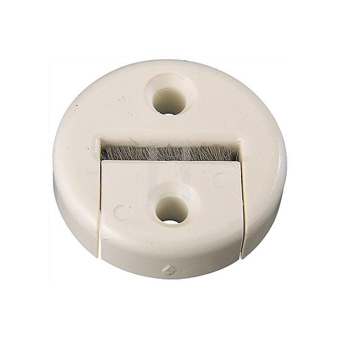 Gurtführung mit Bürste Kunststoff weiss für Gurtbreite bis 23mm