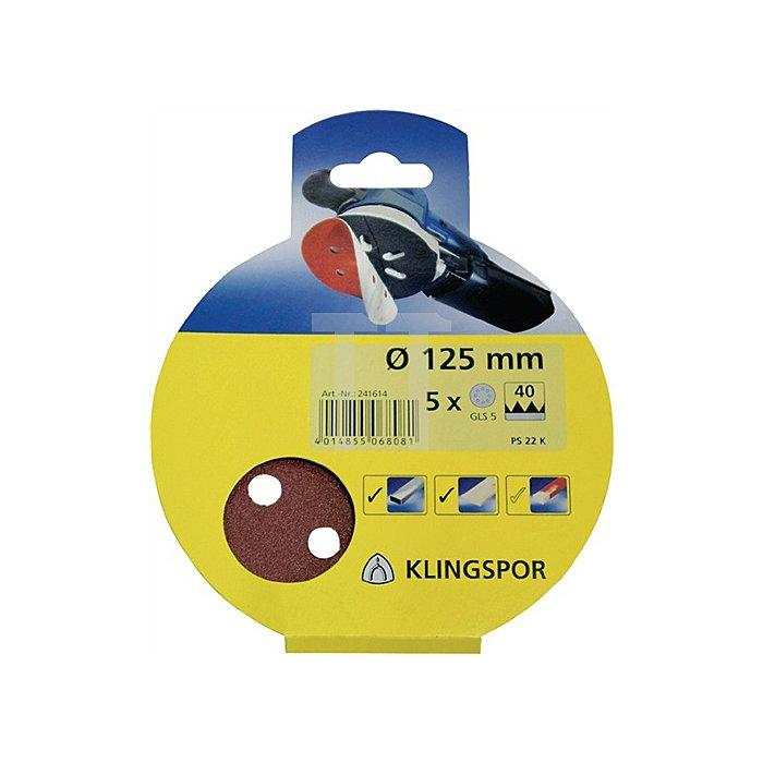 Haftschleifscheibe PS 22 K D.150mm K.120 kletthaftend GLS 3
