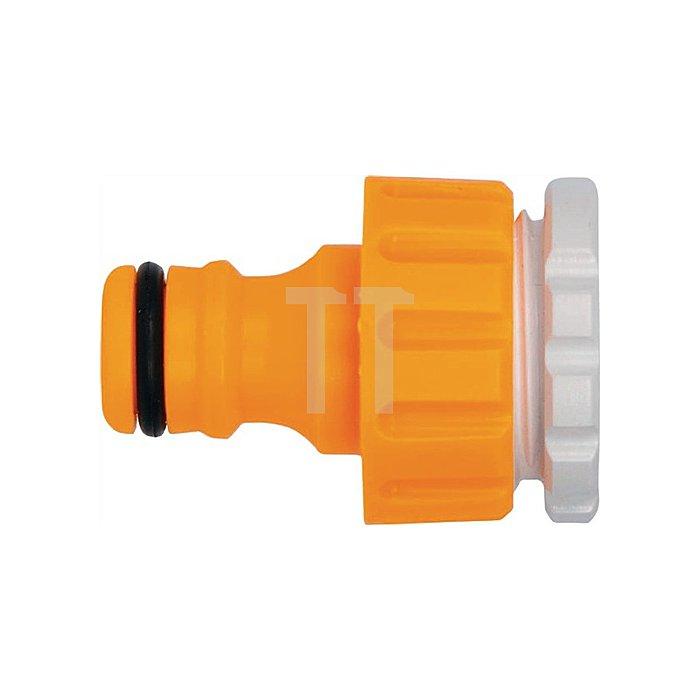 Hahnanschluss 3/4 /1/2 Zoll Kunststoff f. Außenbereich
