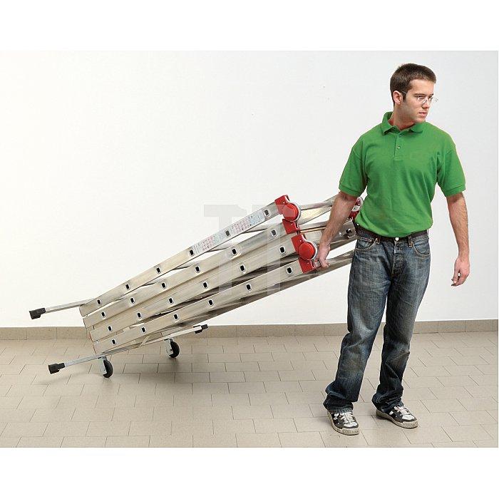 Hailo 1-2-3 500 Aluminium-Gerüst mit Ein-Hand-Schnellverschluss  9459-551