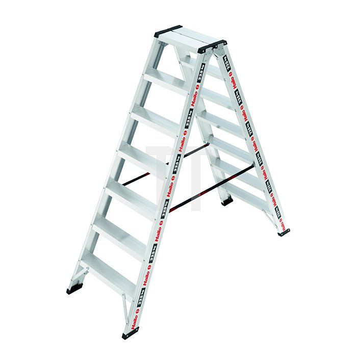 Hailo ChampionsLine D225 Alu-Profi Doppelstufenleiter 2x7 Stufen  8727-001