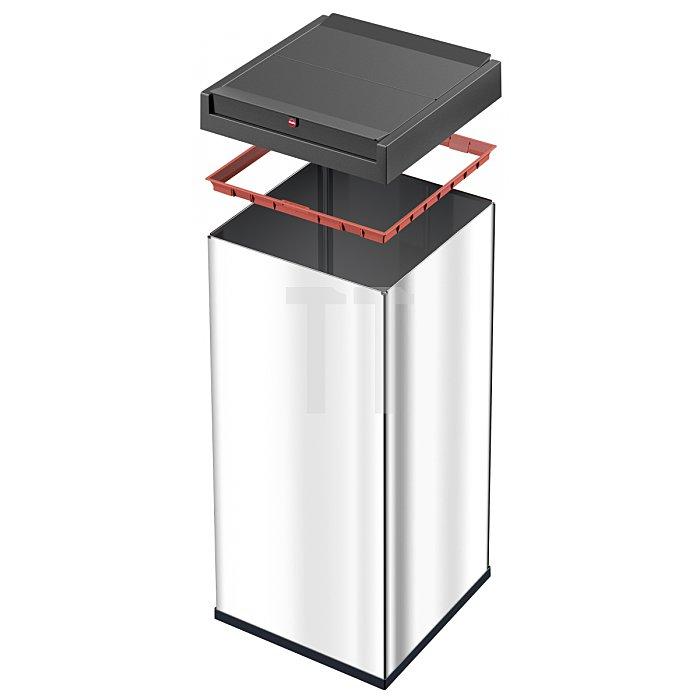 Hailo Großraum Abfallbox Big Box Swing 80 Edelstahl 0880-101