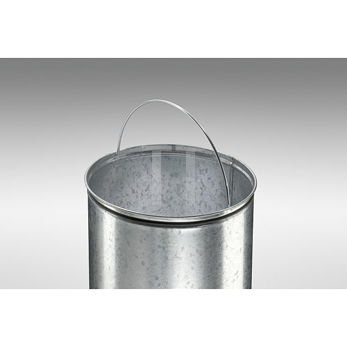 Hailo Großraum-Abfallbox Kick Maxx 35 Silber Inneneimer: verzinkt 0835-469