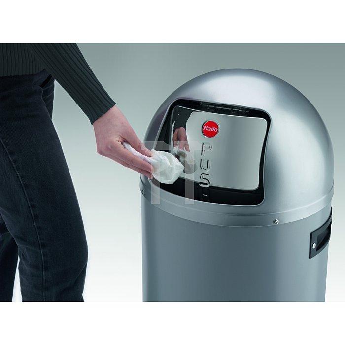 Hailo Großraum-Abfallbox Kick Maxx 50 Silber Inneneimer: verzinkt 0850-469