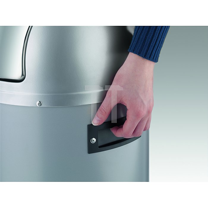 Hailo Großraum-Abfallbox KickVisier 50 Schwarz Inneneimer: verzinkt 0850-459