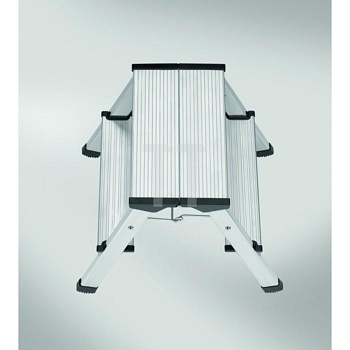 Hailo L90 Alu-Doppelstufen-Klapptritt 2x3 Stufen 8643-001