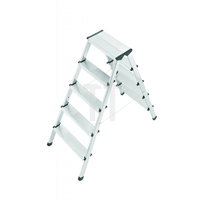 Hailo L90 Alu-Doppelstufen-Klapptritt 2x5 Stufen 8655-001
