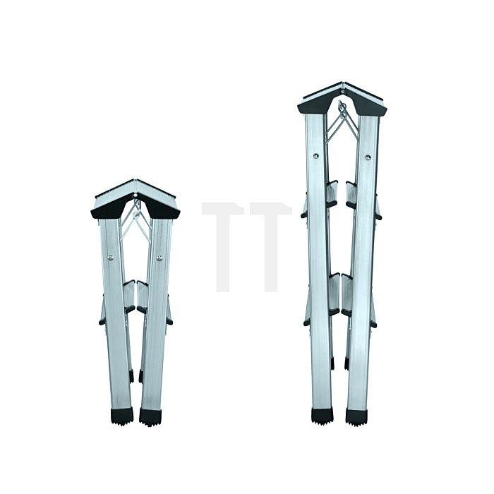 Hailo L90 Alu-Doppelstufen-Klapptritt 2x7 Stufen 8657-001