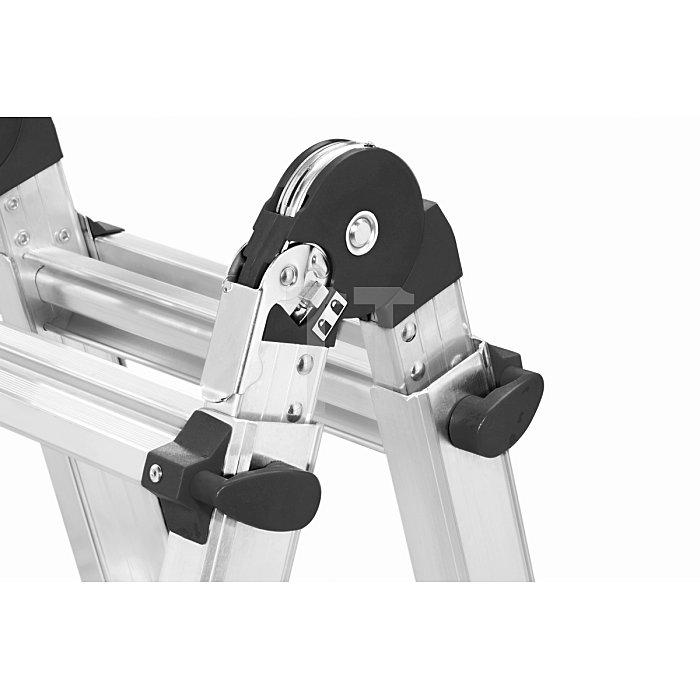 Hailo MTL Alu-Teleskopleiter 4x4 Sprossen 7516-701
