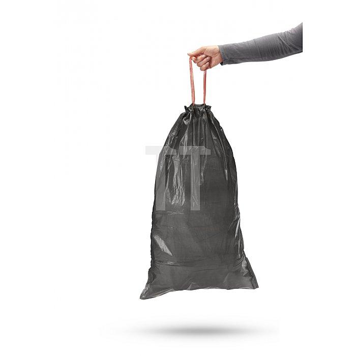 Hailo Müllbeutel mit Zugband schwarz 30 Liter 0030-001
