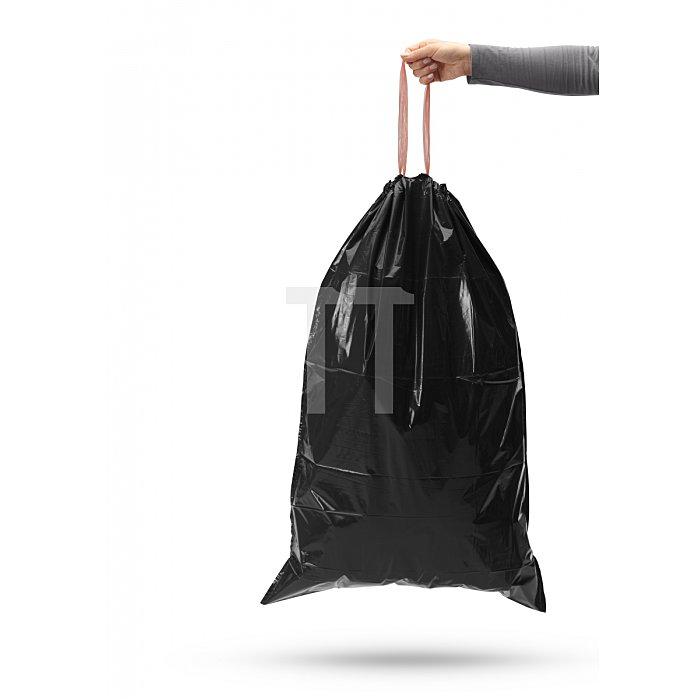 Hailo Müllbeutel mit Zugband schwarz 60 Liter 0060-001