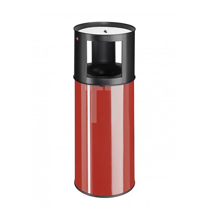 Hailo ProfiLine Care 40 Rot Ascher-Papierkorb-Kombination  0940-002