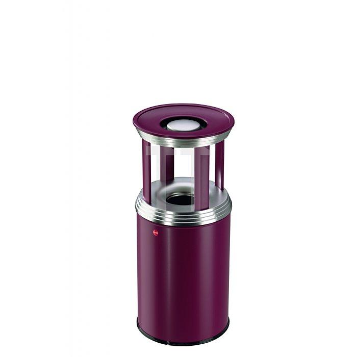 Hailo ProfiLine combi pro 30 Bordeaux-Rot Ascher-Papierkorb-Kombination  0930-539
