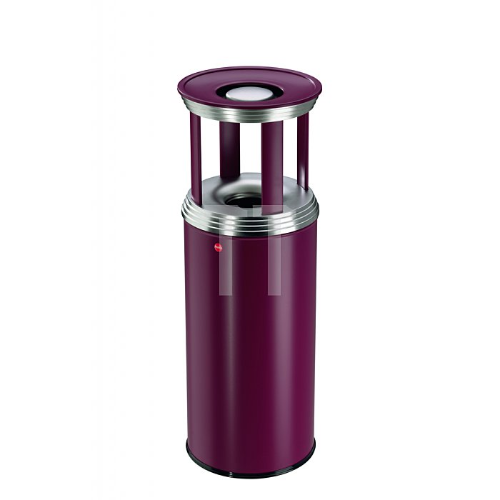 Hailo ProfiLine combi pro 50 Bordeaux-Rot Ascher-Papierkorb-Kombination  0950-539
