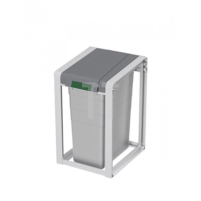 Wertstoffsammler 35l H570xB350xT415mm m. Kunststoff-Behälter Basiseinheit
