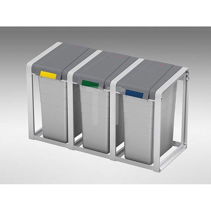 Wertstoffsammler 35l H570xB350xT415mm m. Kunststoff-Behälter Erweiterungseinheit