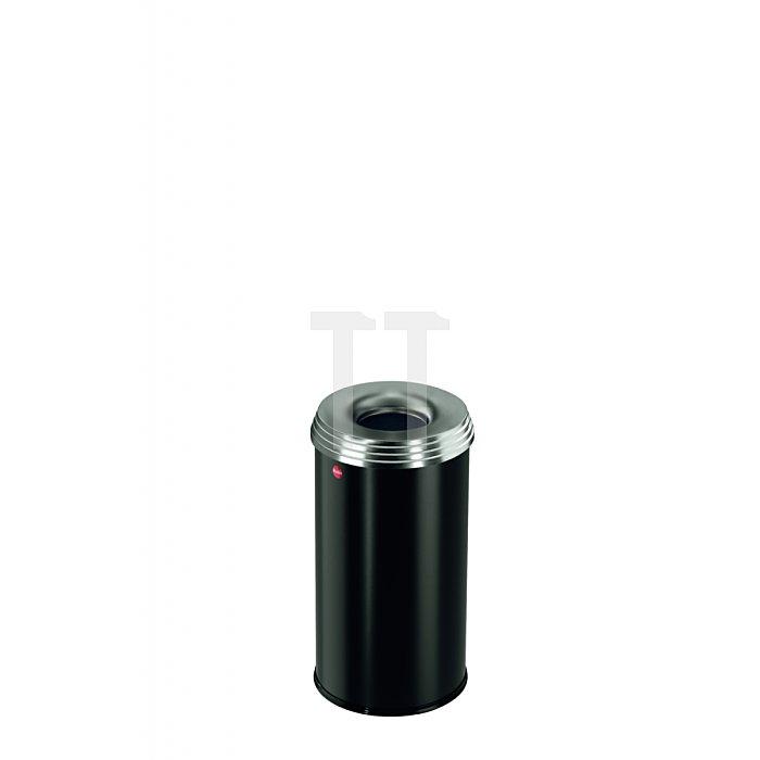Hailo ProfiLine Safe pro 20 Tiefschwarz Flammenlöschender Papierkorb  0920-442