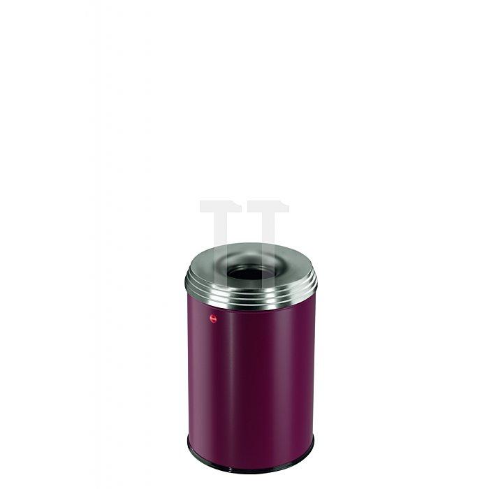Hailo ProfiLine Safe pro 30 Bordeaux-Rot Flammenlöschender Papierkorb  0930-242